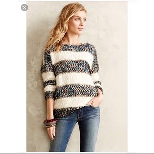 ANTHROPOLOGIE | Confetti Striped Pullover Sweater